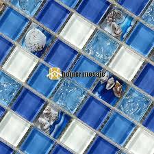 mediterranean style blue crystal glass