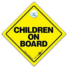 Amazon Com Children Iwantthatsign Com Children On Board Car Sign Children On Board Sign Children On Board Decal Bumper Sticker Baby Signs Child Safety Car Sign Baby