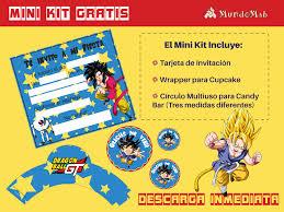 Dragon Ball Descarga Gratis Invitaciones Kits Imprimibles Para