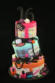 6 sweet 16 birthday cakes makeup photo