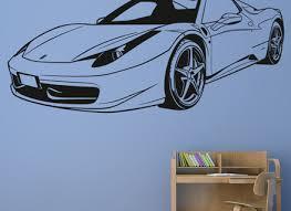 Ferrari F430 Spider Sport Racing Car Wall Decal Art Mural Vinyl Sticker Home Garden Children S Bedroom Cars Decor Decals Stickers Vinyl Art