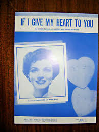 Vintage Sheet Music 1954-If I Give My Heart To You-Denise Lor ...