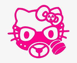 Cheap Gas Mask Hello Kitty Gas Mask 6 Hot Pink Vinyl Decal Sticker Notebook Laptop Wall Window Car Truck Motorcycle