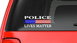 Amazon Com Customdecal Us Police Lives Matter S10 Thin Blue Line Cop Police Sheriff Trooper Vinyl Decal Sticker Car Usa Window Automotive
