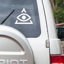 Illuminati Car Sticker Car Rear Window Decal Car Sticker Etsy