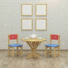 Kids Game Room Interior 3d Rendering Image With Colorful Chairs Stock Photo Picture And Royalty Free Image Image 48035461