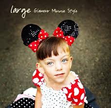 minnie mouse ears hair clips with