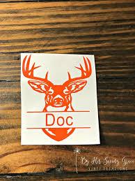 Deer Head With Name Deer Head Outdoors Yeti Decal Rtic Decal Outdoorsmen Deer Hunter Hunting Yeti Decals Decals Deer