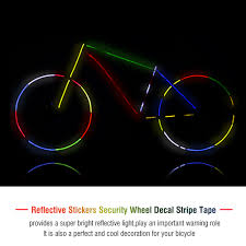 Lyumo 2rolls Bicycle Cycling Reflective Stickers Security Wheel Decal Stripe Tape Bicycle Reflective Sticker Bicycle Safety Stickers Walmart Com Walmart Com