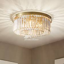 solid brass flush mount crystal ceiling
