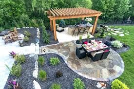 small backyard stone patio ideas