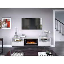 78 inch white fireplace tv stand