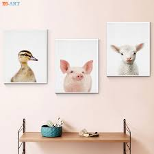 Farm Animal Print Farmhouse Pig Wall Art Canvas Nursery Decor Baby Piglet Painting Pictures Babies Kids Bedroom Decoration Buy At The Price Of 2 93 In Aliexpress Com Imall Com