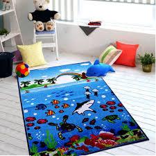 New Kids Underwater Sea Life Floor Mat Non Slip Children Play Room Nursery Rugs Nursery Rugs Rugs Boys Rug