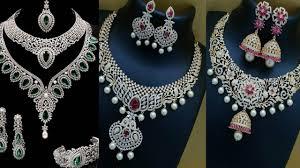 lalitha jewellery gold cz stone