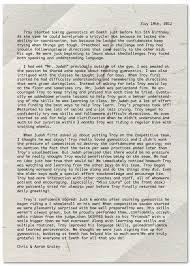 Troy Graley's letter – Emeth Gymnastics