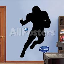 Football Player Silhouettes Wall Decal Allposters Com
