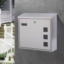 Big Box Mailbox Outdoor Stainless Steel Villa Manager Shopee Philippines