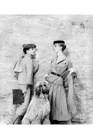 Models: June Clarke (L) and Joy West (R) Vogue – Jan 1956 Photo Eugene  Vernier Vintage fashion, inspiring Blues Browns   …   Doggie style, Vogue,  Vintage fashion