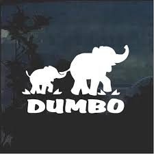 Dumbo Elephant With Mom Window Decal Sticker Custom Sticker Shop