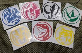 Original Mighty Morphin Power Rangers Power Coin Vinyl Decals For Car Ftw Custom Vinyl