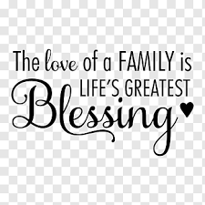 the love of a family is life s greatest blessing text wall decal