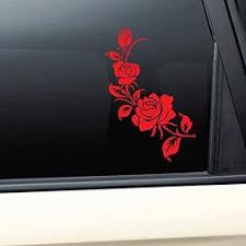 Red Rose Roses Vinyl Decal Car Truck Bumper