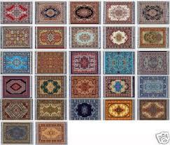 lot 3 dollhouse rugs dolls carpet