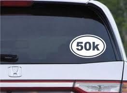 50k Marathon Running Euro Oval Die Cut Vinyl Decal Sticker Texas Die Cuts