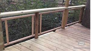 Building Hog Wire Railing Treehouse Youtube