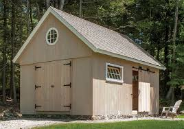 antique style post and beam shed