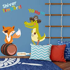 Amazon Com Pirate Fox And Alligator Wall Sticker Pack Pirate Wall Sticker Treasure Island Wall Decal Pirate Wall Decal Kids Room Decor Baby