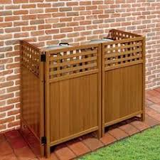 Diy How To Build A Lattice Screen To Hide Garbage Cans Air Conditioner Unit Description From Pinteres Outdoor Trash Cans Hide Trash Cans Garbage Can Storage
