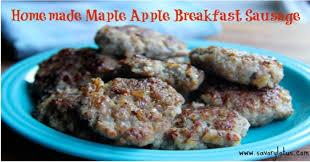 homemade maple apple breakfast sausage