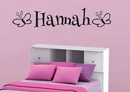 Hannah Butterfly Wall Decal Personalized Room Wall Art Custom Name Vinyl