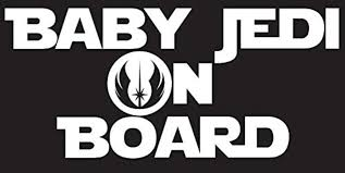 Buy Baby Jedi On Board Decal Sticker Inspired By Star Wars Perfect For Back Car Window Or On Car Body 7 25 X 3 25 White Cmi145 In Cheap Price On Alibaba Com