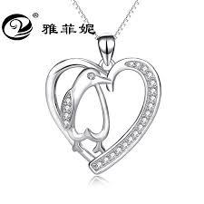 pure silver jewelry penguin pendant