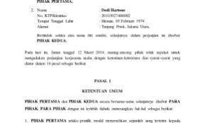Contoh Surat Perjanjian Catering Dengan Perusahaan Barisan Contoh