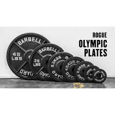 rogue olympic plates cast iron