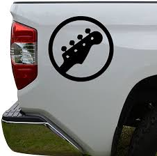 Amazon Com Rosie Decals Bass Guitar Head Rock Band Die Cut Vinyl Decal Sticker For Car Truck Motorcycle Window Bumper Wall Decor Size 6 Inch 15 Cm Tall Color Matte Black Home Kitchen