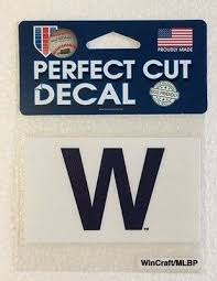 Chicago Cubs 4 X 4 Win Flag W Truck Car Auto Window Die Cut Decal Team Color 4 95 Picclick