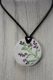 natural clay diffuser necklace pendant