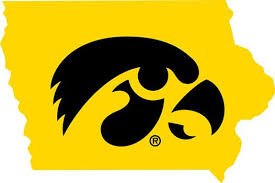 University Of Iowa Wall Decals Iowa Tigerhawk State Map Decal Outdoor Logos Hawkeyes Iowa Football