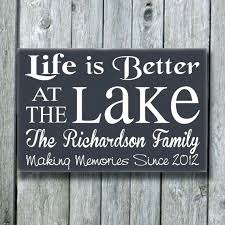 lake sign signs wall decor house