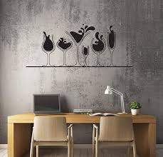 Amazon Com Vinyl Decal Various Glasses For Alcohol Drinks Martini Wine Whiskey Unique Wall Decor And Stick Wall Decals Kitchen Dining