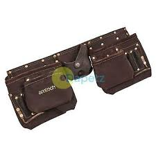 oil tanned leather tool belt pouch