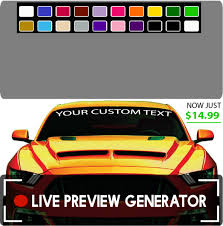 Create Your Own Custom Windshield Decal Banner Maker Easy Topchoicedecals