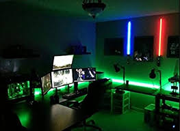 Amazon Com Kids Room Led Light Kit For Your Computer Desk Study Desk Gamer Desk Lighting Kit Is Super Bright Remote Control Green With Strobe Effects Video Games