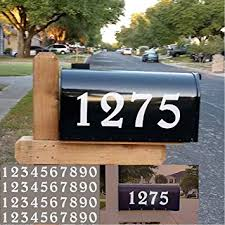Amazon Com Diggoo Reflective Mailbox Numbers Sticker Decal Die Cut Elegant Style Vinyl Number 2 Self Adhesive 4 Sets For Mailbox Signs Window Door Cars Trucks Home Business Address Number Home Improvement