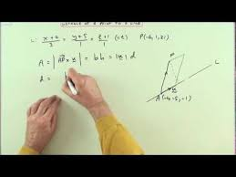 distance of a point to a line in 3d